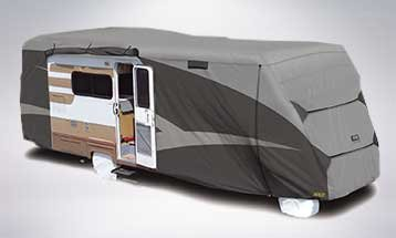 photo of class c rv with cover - Rv Cover