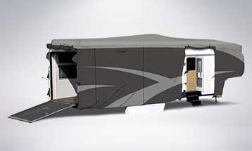 fifth wheel trailer and fifth wheel toy hauler cover cover photo