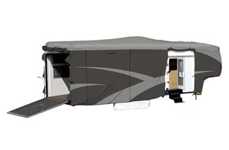 Tyvek Designer RV Cover on: fifth-wheel-trailer-and-fifth-wheel-toy-haulers